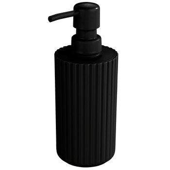 Dozownik do mydła w płynie ALLSTAR Minas, czarny, 18x7 cm-Allstar
