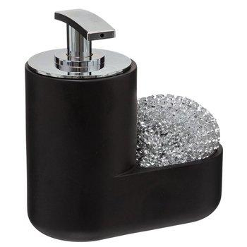 Dozownik na płyn do naczyń + szczotka druciana, kolor czarny-5five Simple Smart