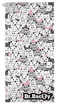 Dr. Bacty, Ręcznik szybkoschnący, Kotki, 60x130 cm-Dr.Bacty