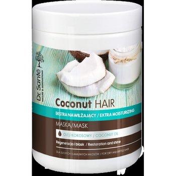 Dr. Sante, Coconut Hair, maska nawilżająca do włosów suchych i łamliwych, 1000 ml-Dr. Sante
