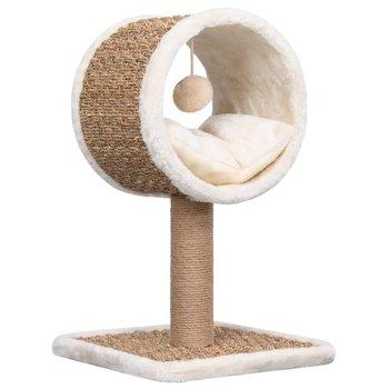 Drapak dla kota z legowiskiem i zabawką, 56 cm, trawa morska-vidaXL