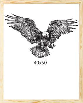 Drewniana ramka na plakat, eko, 40x50 cm-Postergaleria