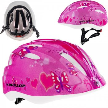 Dunlop, Kask rowerowy dziecięcy, Motyle, różowy, rozmiar uniwersalny-Dunlop