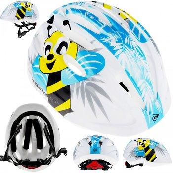Dunlop, Kask rowerowy dziecięcy, Pszczółki, biały, rozmiar uniwersalny-Dunlop