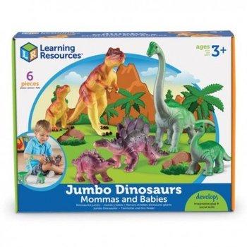 Duże figurki, mamy i dzieci, dinozaury, zestaw 6-Learning Resources