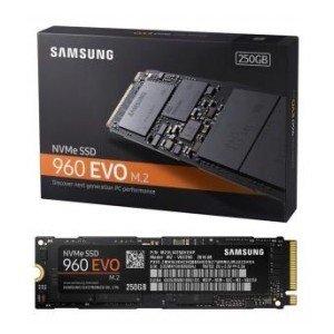 Dysk twardy SSD SAMSUNG 960 Evo, M.2 (2280), 250 GB, NVMe, 3200 MB/s-Samsung