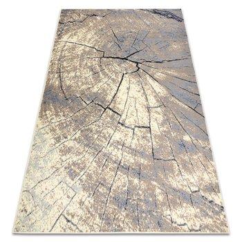 Dywan BCF BASE Trunk 3989 Pień drzewo, pieniek kość słoniowa / szary, 120x160 cm-Dywany Łuszczów