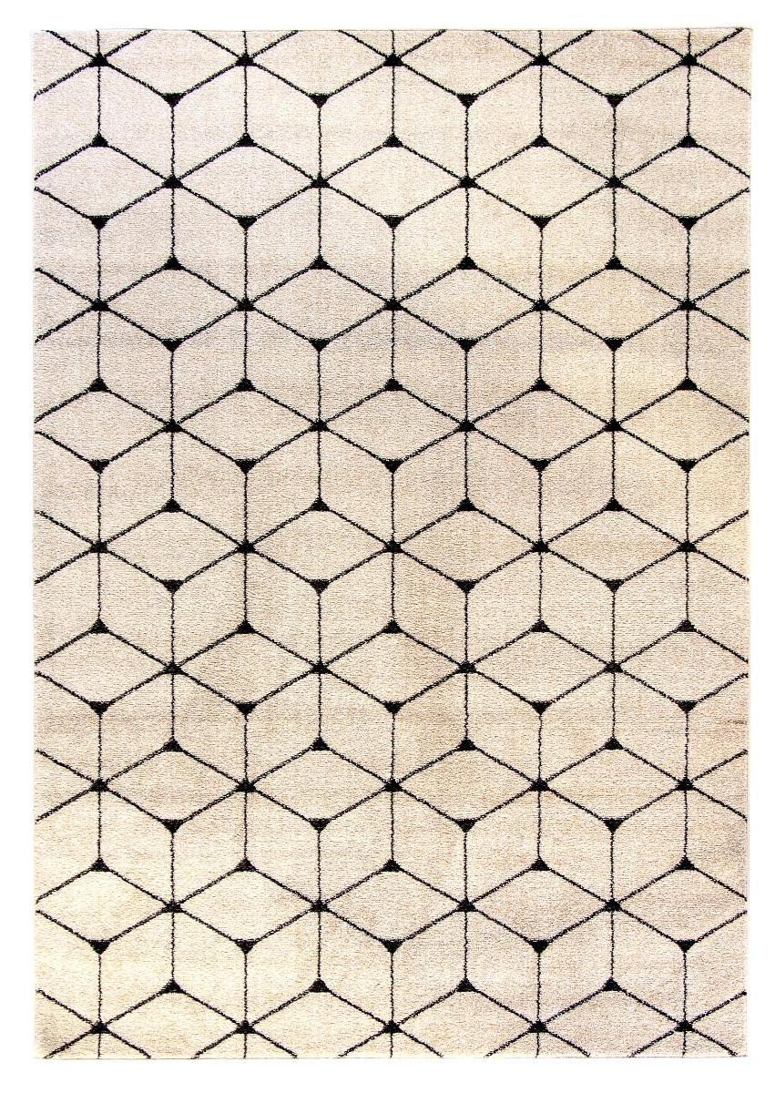 Dywan Carpetforyou Light Collection Magic Cube Beżowo Czarny 120x170 Cm
