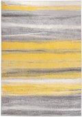 Dywan CARPETFORYOU Light Collection, Summer Abstract, szaro-żółty, 120x170 cm-Carpetforyou