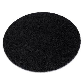 Dywan DYWANY ŁUSZCZÓW SOFFI koło shaggy 5cm czarny, koło 80 cm-Dywany Łuszczów