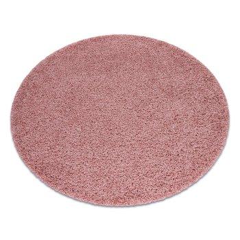 Dywan DYWANY ŁUSZCZÓW SOFFI koło shaggy 5cm różowy, koło 80 cm-Dywany Łuszczów
