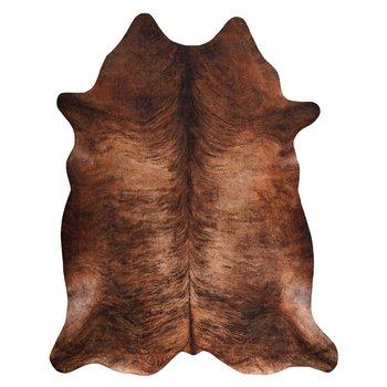 Dywan DYWANY ŁUSZCZÓW Sztuczna Skóra Bydlęca, Krowa G5067-3 Brązowa skórka, 100x150 cm-Dywany Łuszczów