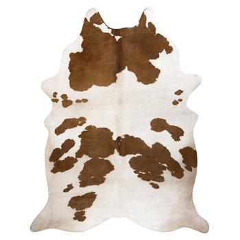 Dywan DYWANY ŁUSZCZÓW Sztuczna Skóra Bydlęca, Krowa G5069-2 Biało-brązowa skórka, 100x150 cm-Dywany Łuszczów