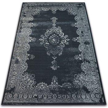 Dywan DYWANY ŁUSZCZÓW Vintage Rozeta 22206/996, czarny, 80x150 cm-Dywany Łuszczów
