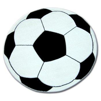 Dywan dziecięcy DYWANY ŁUSZCZÓW Happy Piłka, biało-czarny, 80 cm-Dywany Łuszczów