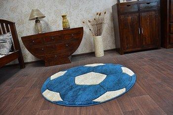 Dywan dziecięcy DYWANY ŁUSZCZÓW Happy Piłka, niebieski, 80 cm-Dywany Łuszczów