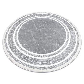 Dywan GLOSS koło nowoczesny 2813 27 stylowy, ramka, grecki szary, koło 120 cm-Dywany Łuszczów