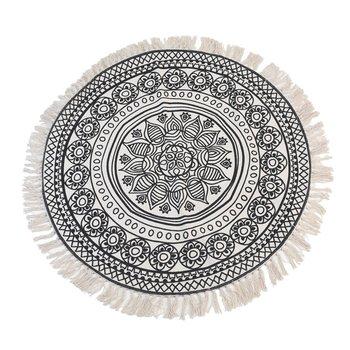 Dywan, Indiana, okrągły, kremowo-czarny, 150 cm