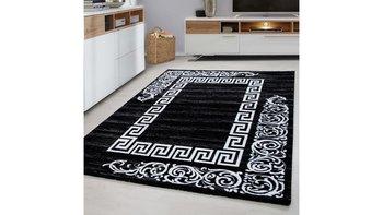 Dywan nowoczesny do salonu i sypialni ATENA Czarny MIAMIR Prostokąt 80x150 cm-Ayyildyz Hali