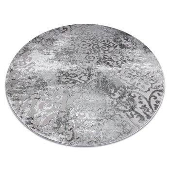 Dywan nowoczesny MEFE Koło 8724 Ornament vintage przecierany - Strukturalny, dwa poziomy runa szary, koło 100 cm-Dywany Łuszczów
