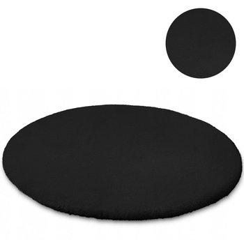 Dywan okrągły STRADO Rabbit Black, czarny, 80x80 cm-STRADO