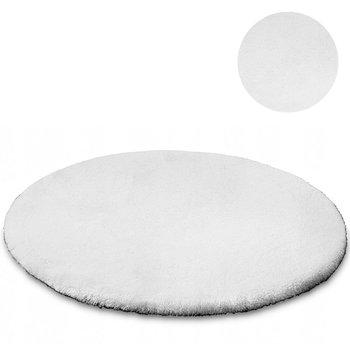 Dywan okrągły STRADO Rabbit White, biały, 120x120 cm-STRADO