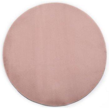 Dywan okrągły vidaXL, różowy, 160 cm-vidaXL
