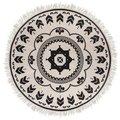 Dywan okrągły z frędzlami Boho-MIA home
