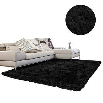 Dywan shaggy STRADO BlackSky, czarny, 100x150 cm-STRADO