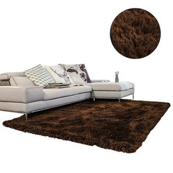 Dywan shaggy STRADO DarkCoffe, ciemny brązowy, 140x200 cm-STRADO
