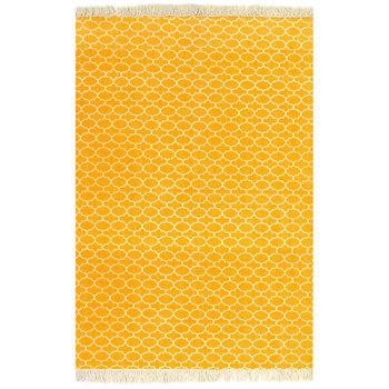Dywan typu kilim vidaXL, żółty, 120x180 cm-vidaXL