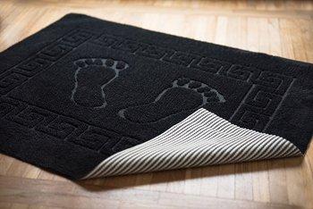 Dywanik łazienkowy czarny stopki 50x70 cm-Tuva Home