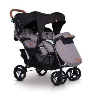 EasyGo, Fusion, Wózek bliźniaczy, Grey Fox-EasyGo