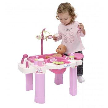 Ecoiffier, opiekunka krzesełko do karmienia dla lalki i przewijak-Ecoiffier
