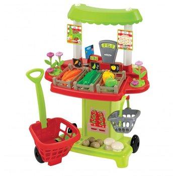 Ecoiffier, sklepik z warzywami, wózek i stragan z akcesoriami-Ecoiffier