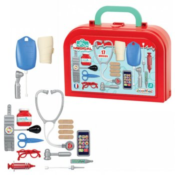 Ecoiffier, walizka lekarza z pełnym wyposażeniem-Ecoiffier