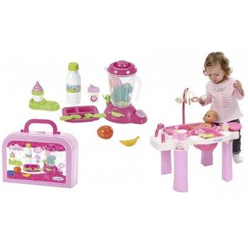 Ecoiffier, wanienka i przewijak dla lalek Opiekunka z przyborami do posiłku-Ecoiffier