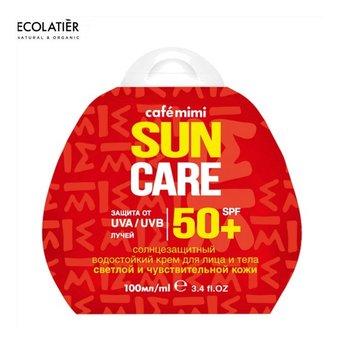 Ecolatier CAFE MIMI Przeciwsłoneczny krem do twarzy i ciała SPF+50 Do skóry jasnej i wrażliwej 100ml-Ecolatier