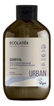 Ecolatier, Urban, szampon do włosów zniszczonych odbudowujący argana i biały jaśmin, 600 ml-Ecolatier