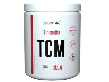 Ecomax, Kreatyna, TCM Tri Creatine, 500 g, owoce tropikalne-Ecomax