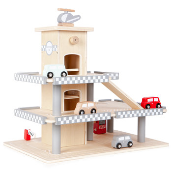 Ecotoys, garaż z windą, zestaw -Ecotoys
