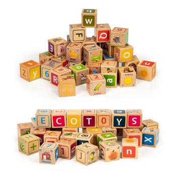 Ecotoys, klocki edukacyjne Litery Cyfry Obrazki-Ecotoys