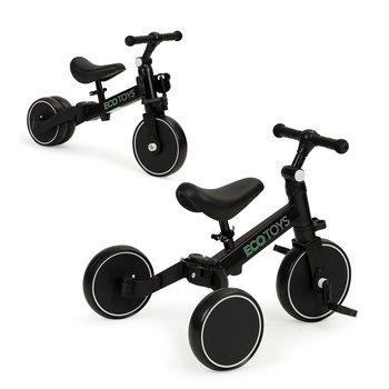 Ecotoys, Rowerek biegowy, 4w1, trójkołowy z pedałami-Ecotoys