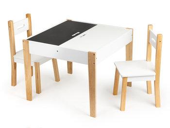 Ecotoys, Stolik z dwoma krzesłami, Zestaw mebli dla dzieci -Ecotoys