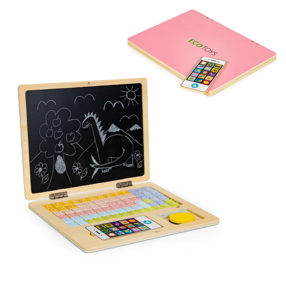 Ecotoys, Tablica edukacyjna magnetyczna laptop