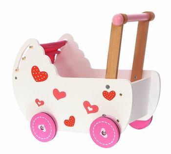 Ecotoys, wózek dla lalek z pościelą-Ecotoys