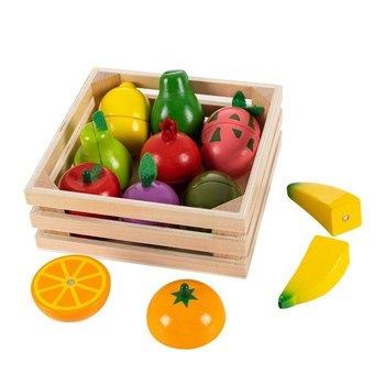Ecotoys, zabawka edukacyjna Owoce do krojenia na magnes-Ecotoys