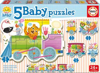 Educa, puzzle dla dzieci Pociąg zwierząt-Educa