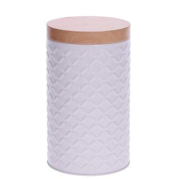 EH Excellent Houseware Pojemnik metalowy, biały, 11x19 cm-EH Excellent Houseware