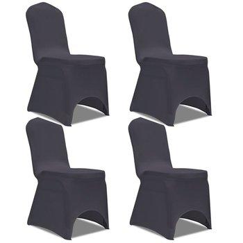 Elastyczne pokrowce na krzesła antracytowe 4 szt.-vidaXL